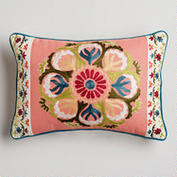 World Market embroidered pillow