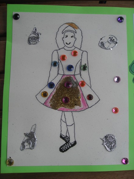 Dimples 7th birthday Irish dance dress craft